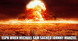 Michael Sam sacks Johnny Manziel